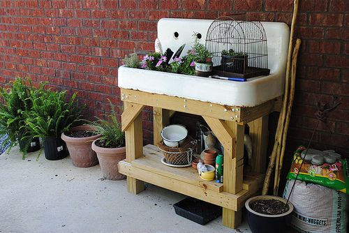 Outdoor Farm Sink : old farm sink as potting bench reduce, reuse, recycle, repurpose ...