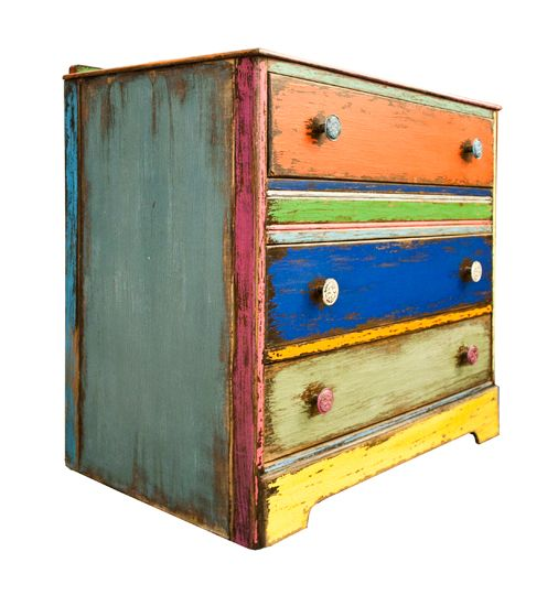 Multi Colored Chest Of Drawers Inspiration Painted Furniture Pin