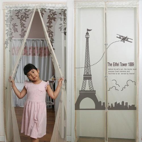 Mesh magnet interior door mosquito net curtain auto - Mosquito net door designs ...