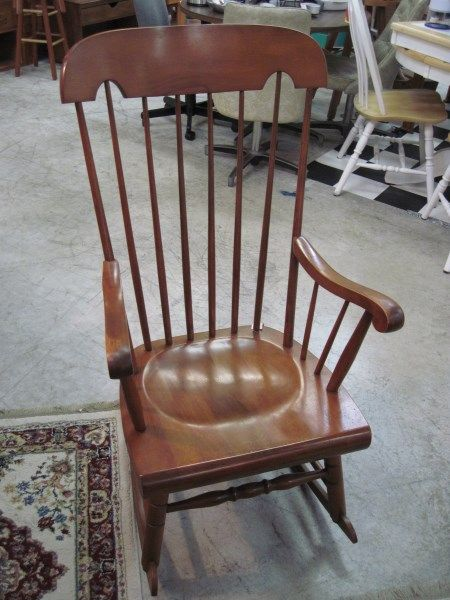 Tell City Spindle Wood Rocker  Interesting Furniture Pieces  Pinter ...