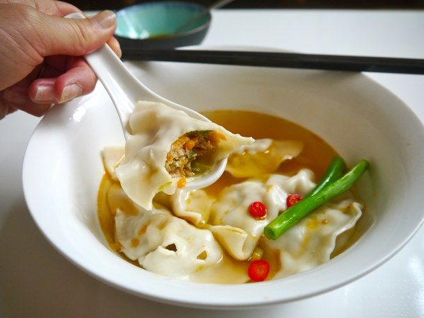 Chinese Dumpling Soup (Sui Gao or Shui Jiao) (The Hungry Australian)