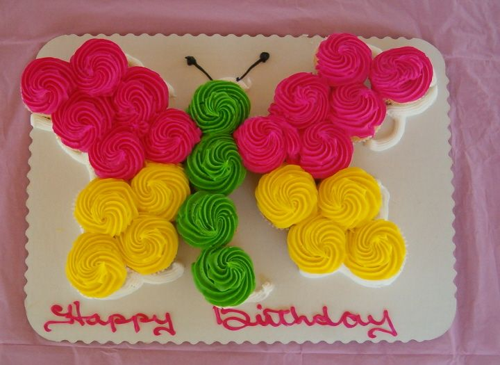 Butterfly Cupcake Images : butterfly cupcake cake Cakes Pinterest