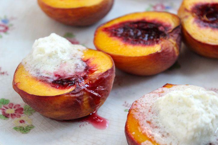 roasted mascarpone peaches | Yummies to Make | Pinterest