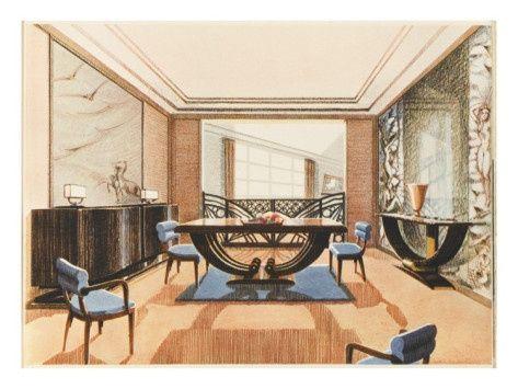 art deco dining room design for the home pinterest
