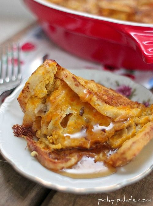 Pumpkin Pie French Toast Bake - Picky Palate