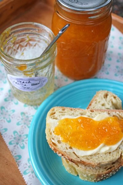 Peach Vanilla Bean Jam | EAT: Condiments | Pinterest