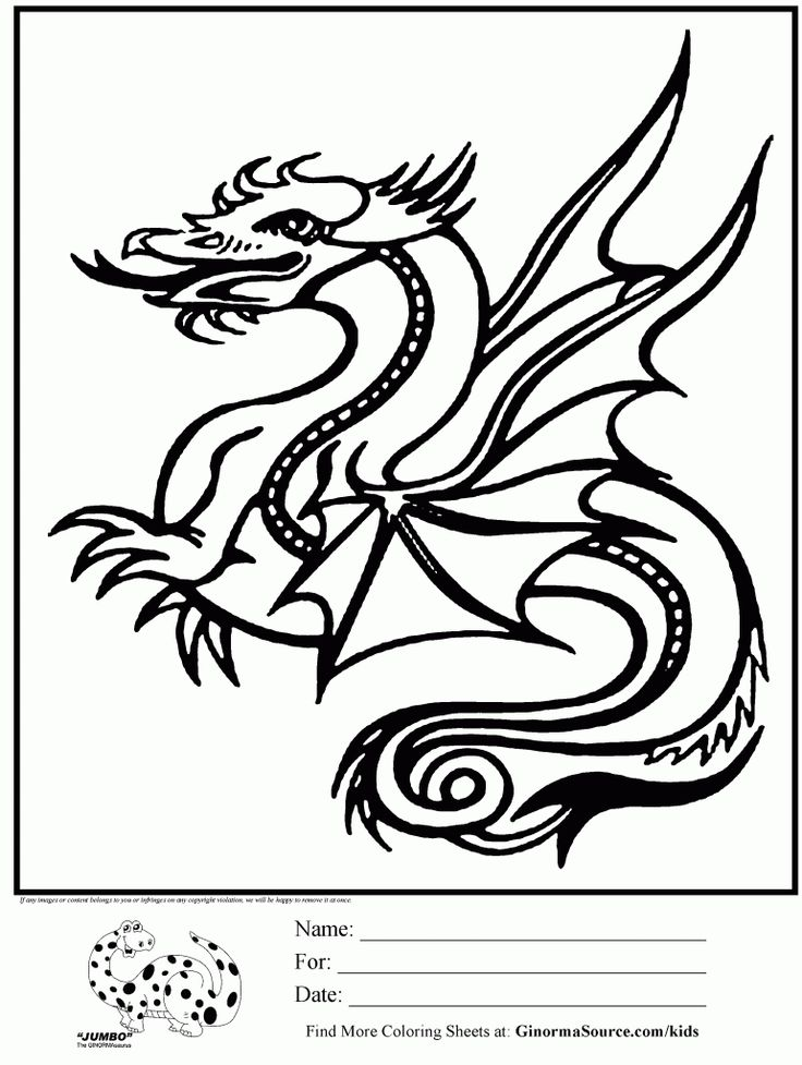 Awesome coloring page dragon dragons pinterest