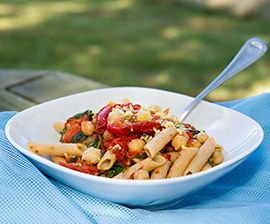 Pasta with Roasted Tomatoes, Chickpeas, and Arugula. Sign-up for our ...