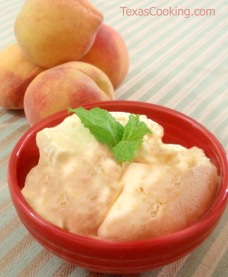 Homemade Peach Ice Cream recipe Made this ice cream yesterday. It was ...