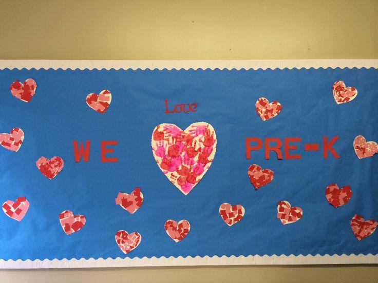 Valentine bulletin board | Ideas for Pre-K | Pinterest