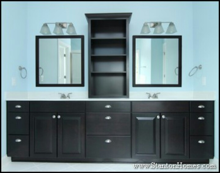 sinks and cabinet in between for the home pinterest