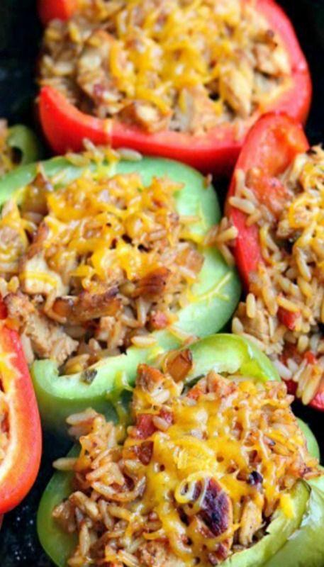 Chicken Fajita Stuffed Peppers | [Recipes] Entrees | Pinterest