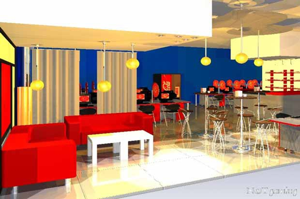 Pin by arquitecturadeinterior on 001 dise o interior de for Internet cafe interior designs
