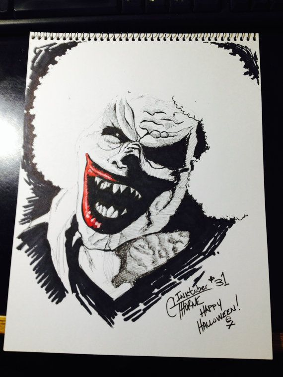 how to draw a evil clown