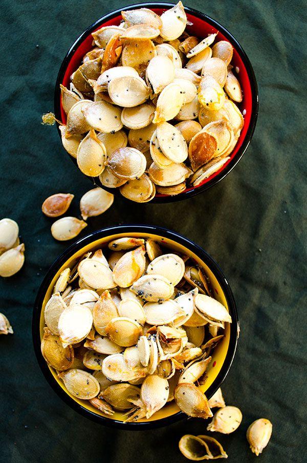 Roasted pumpkin seeds | giverecipe.com | #pumpkinseeds #snack #pumpkin ...