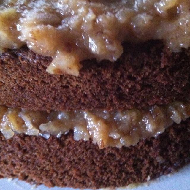 Birthday Cake - homemade German Chocolate Happy Birthday Sweetie