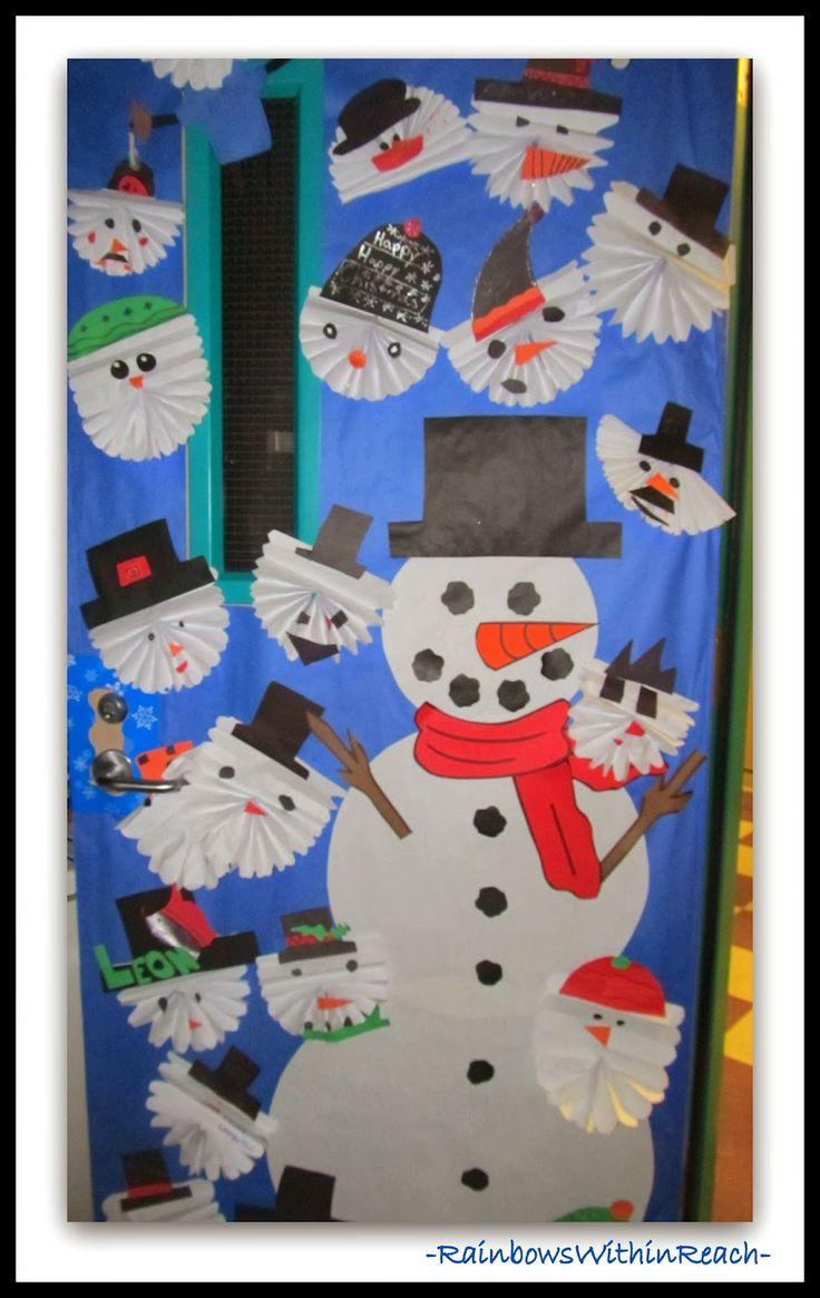 Classroom Winter Ideas ~ Winter themed decorated classroom doors