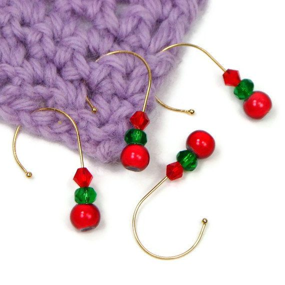 Crochet Stitch Markers Diy : Crochet Stitch Markers Set Removable Snag Free by TJBdesigns, $6.00
