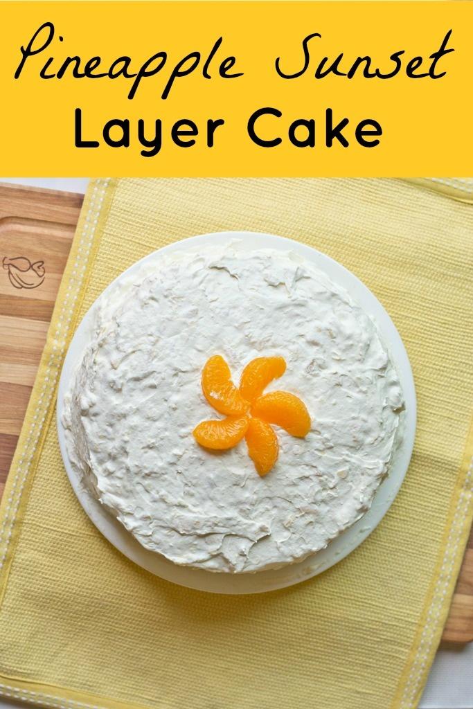 Pineapple Sunset Layer Cake | Recipe