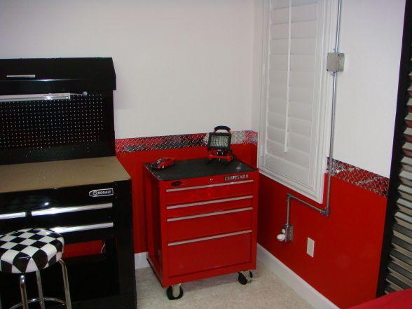 Garage Themed Bedroom For The Home Pinterest