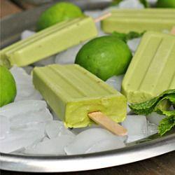 Avocado Ice Pops | Desserts | Pinterest