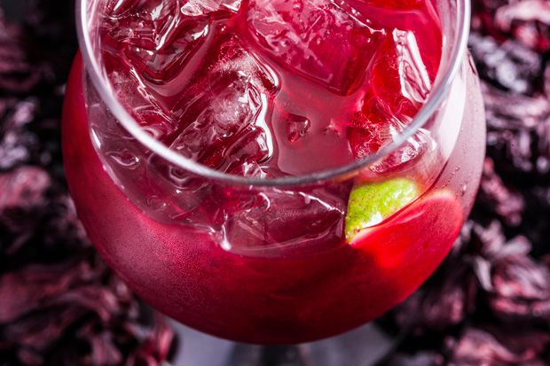 hibiscus margarita: 16 oz blanco tequila, 2 oz hibiscus, 5 oz grand ...
