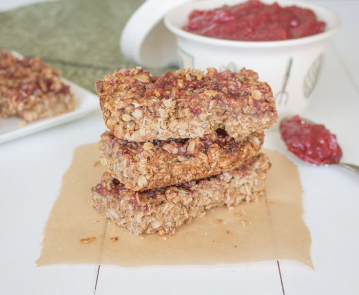 Peanut Butter & Jelly Granola Bars | One Ingredient Chef