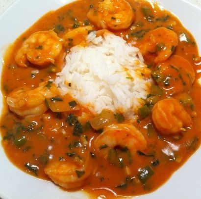 Shrimp Stoufee-I would substitute poblano peppers for the bell peppers ...