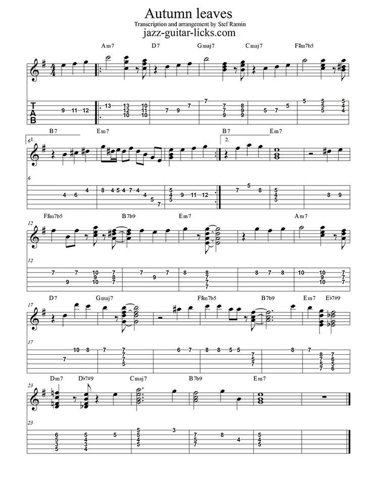 White Christmas Jazz Guitar Chord Melody Sheet Music Plus 9921320 ...