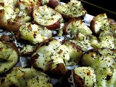 Blogghetti: Smashed Roasted Potatoes | Favorite Recipes | Pinterest