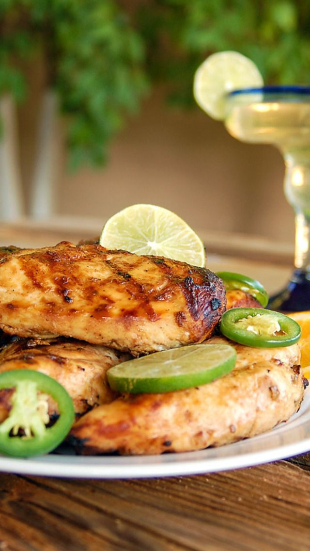 Grilled Margarita Chicken with Marinade | Recipes to try | Pinterest