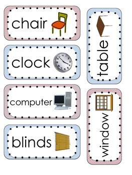 Classroom labels for Room labels