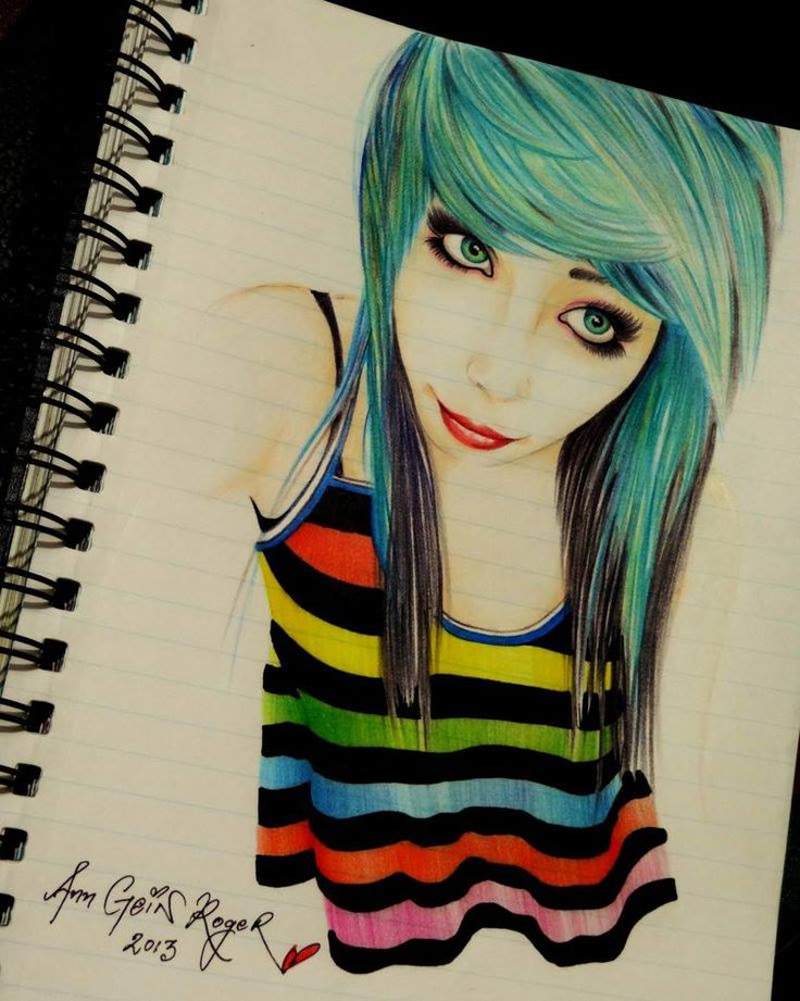 Amazing scene girl drawing cool pics pinterest for Amazing drawings of girls
