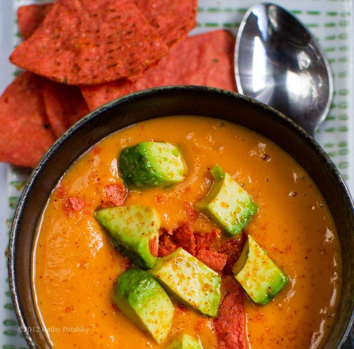 Sweet Potato Soup - Avocado on top. Chipotle + Citrus. A bit rich for ...