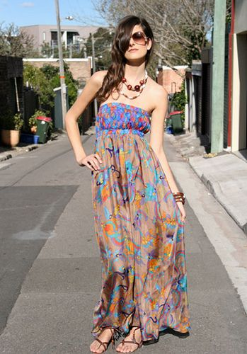 strapless honey beau outdoor dress by goshcelebrityfashion, via Flickr