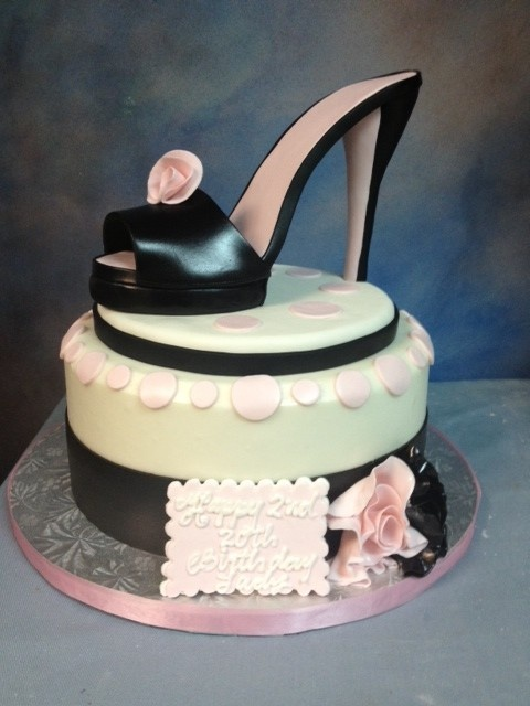 Birthday Cake Designs Shoes : Shoe themed birthday cake. Cake Decorating Pinterest