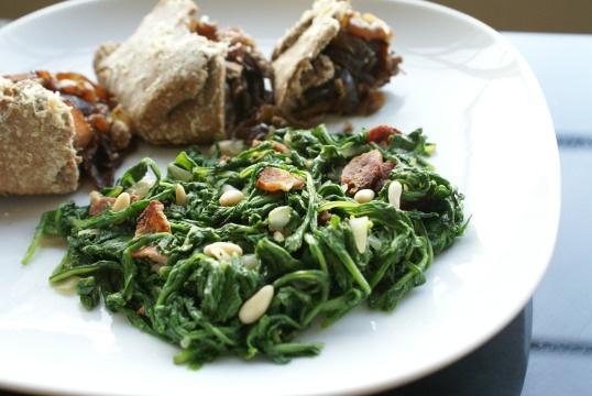 Warm Arugula & Bacon Salad | Foodie Stuff | Pinterest