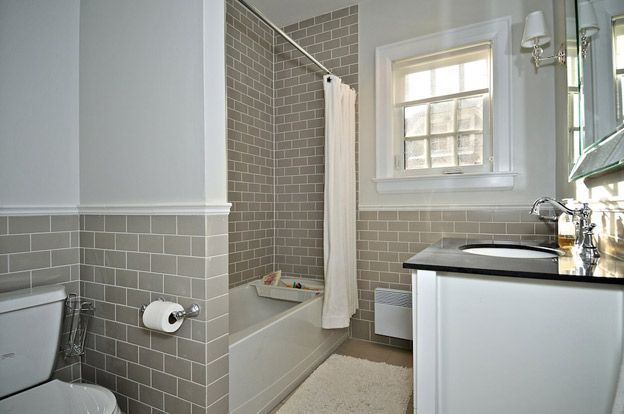 Subway Tile Bathroom Interior Design Pinterest