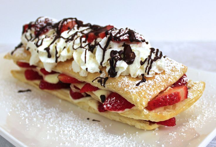 Strawberry Napoleon made with Pepperidge Farm Puff Pastry
