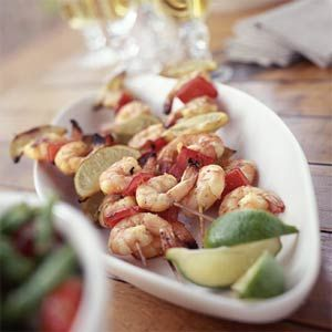 Shrimp Kebabs with Jalapeño-Lime Marinade | MyRecipes.com