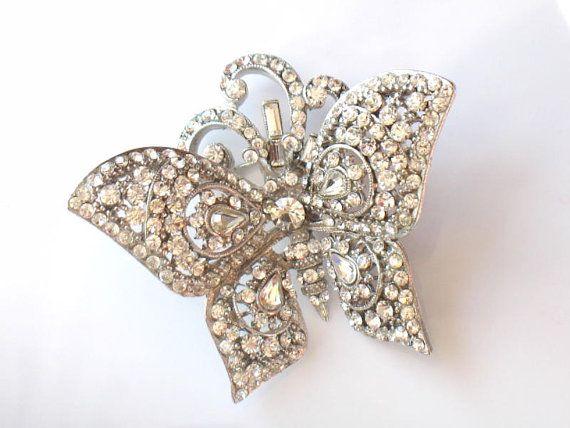 JOSE MARIA BARRERA Butterfly Brooch by JewelryQuestDesign on Etsy, $110.99