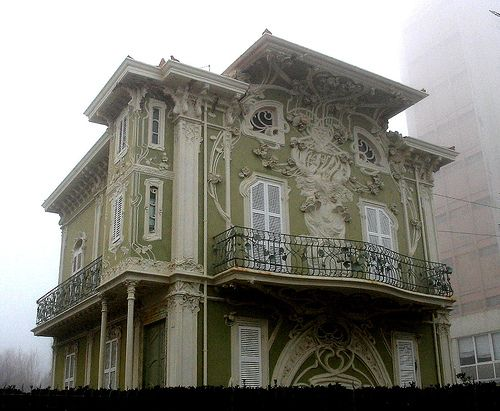 The liberty-style house (built 1902-1907) still stands in Pesaro, Italy 679fd9869c024b80afea0f68c41055af