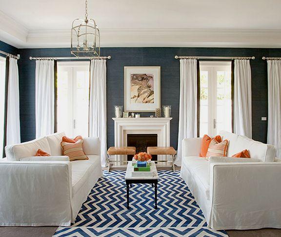 navy blue living room my home pinterest