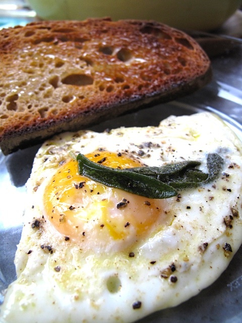 Fried Eggs With Rosemary Potatoes Recipe — Dishmaps
