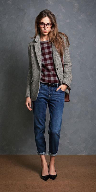 coat sweater with jeans