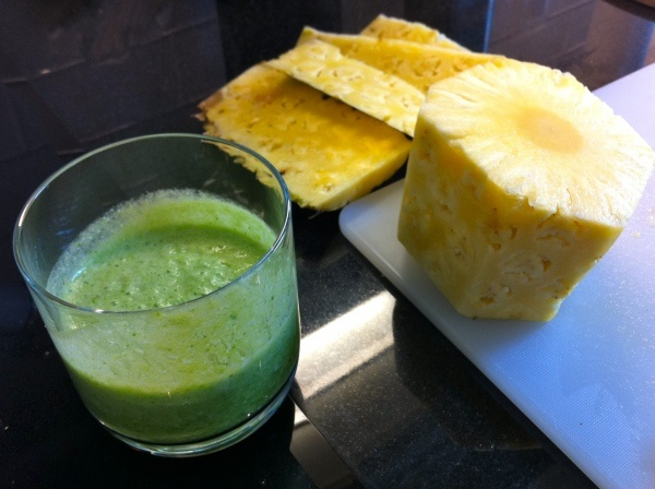 Green Pina Colada Smoothie | candida what up | Pinterest