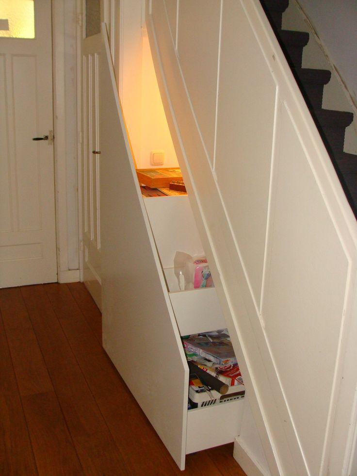 Trapkast opbergruimte op maat pinterest - Handige trap ...