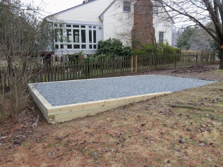 shed foundation | gravel shed pad | Backyard | Pinterest