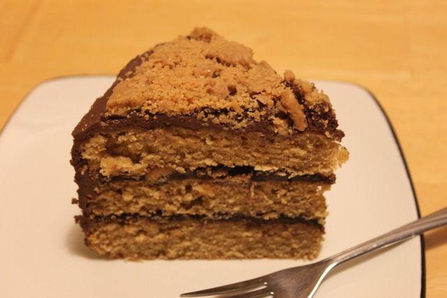 Vegan Butterfinger Cake. Mike's birthday!!