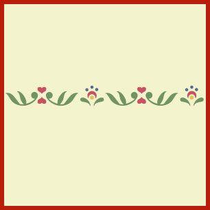 Rosemaling pattern 3 stencil swedish kurbits norwegian decorative